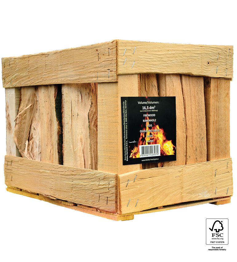 Bukova drva v gajbici