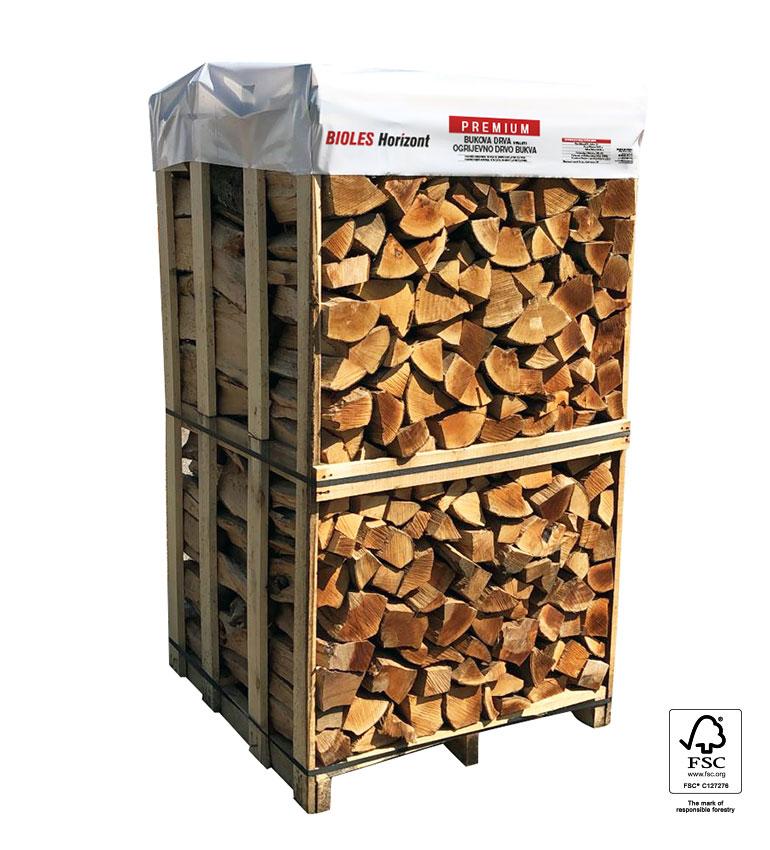 Premium bukova drva 1x1x1,8m