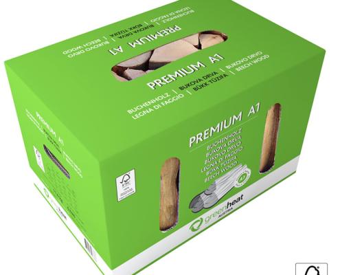 Premium A1 bukova drva v kartonu 11kg