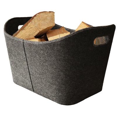 Košara za drva iz filca