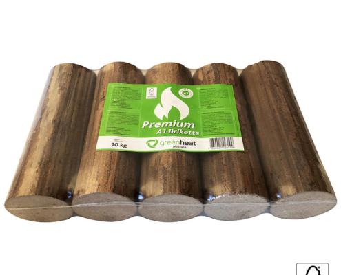 Premium briketi Greenheat 10kg PVC