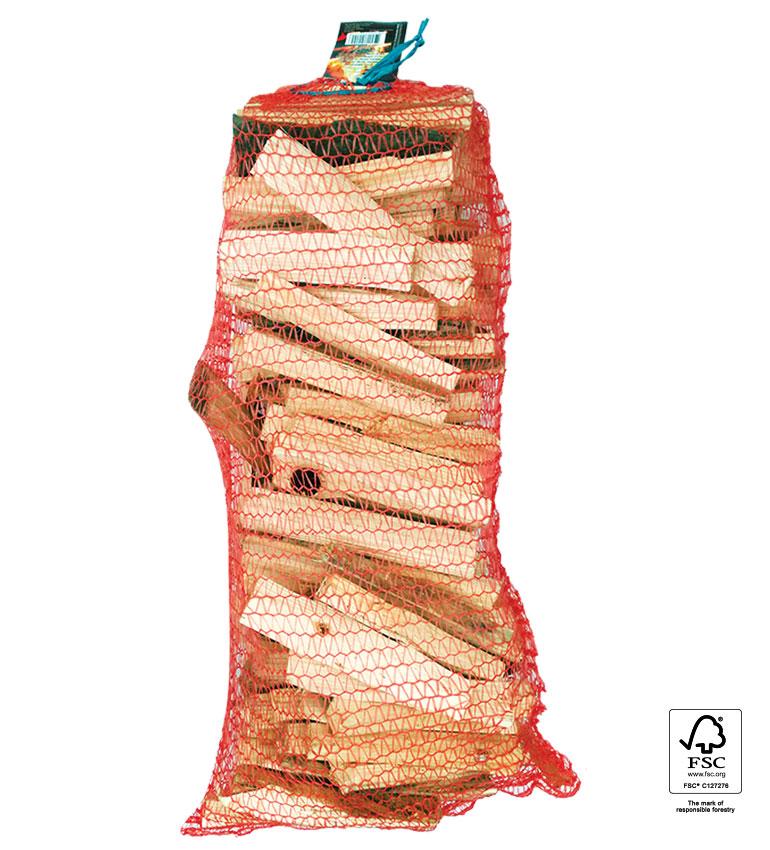 Treske za podžig v mrežasti vreči